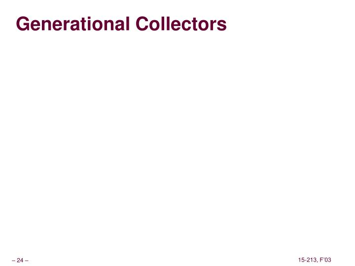 Generational Collectors