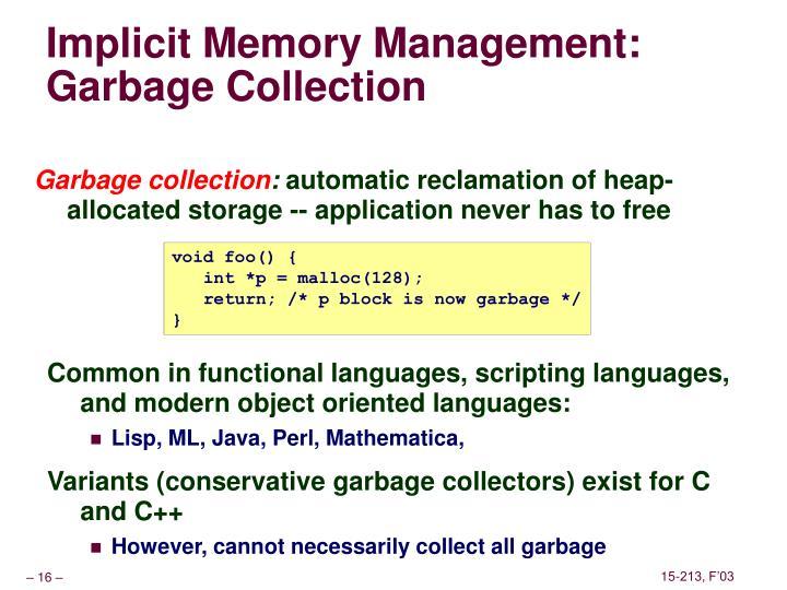 Implicit Memory Management: