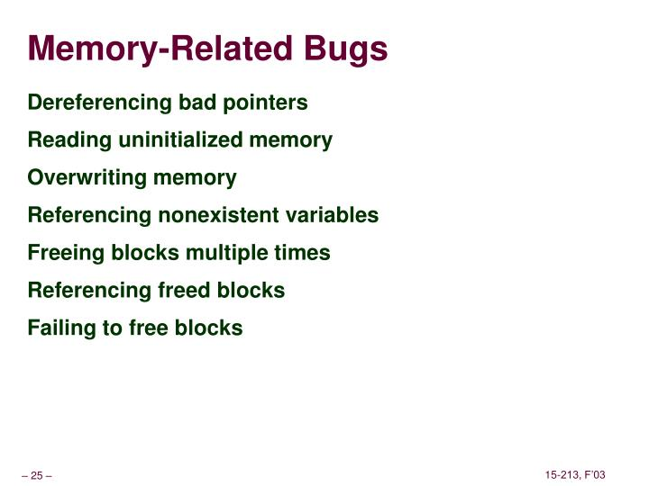 Memory-Related Bugs
