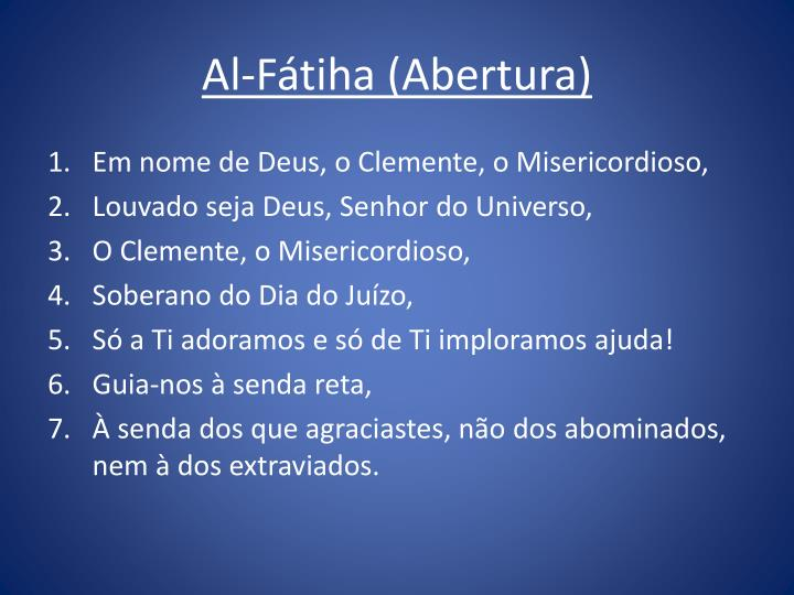 Al-Fátiha (Abertura)