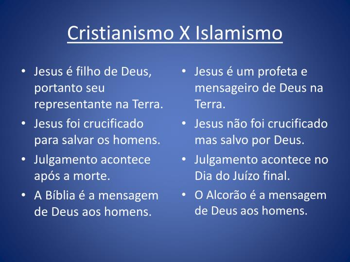 Cristianismo X Islamismo