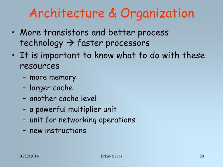 Architecture & Organization