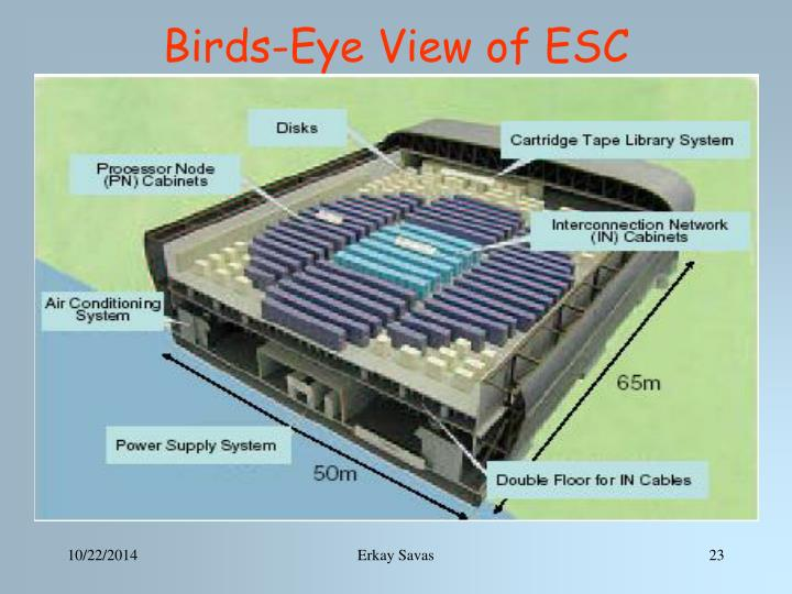 Birds-Eye View of ESC