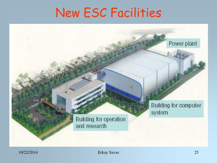 New ESC Facilities