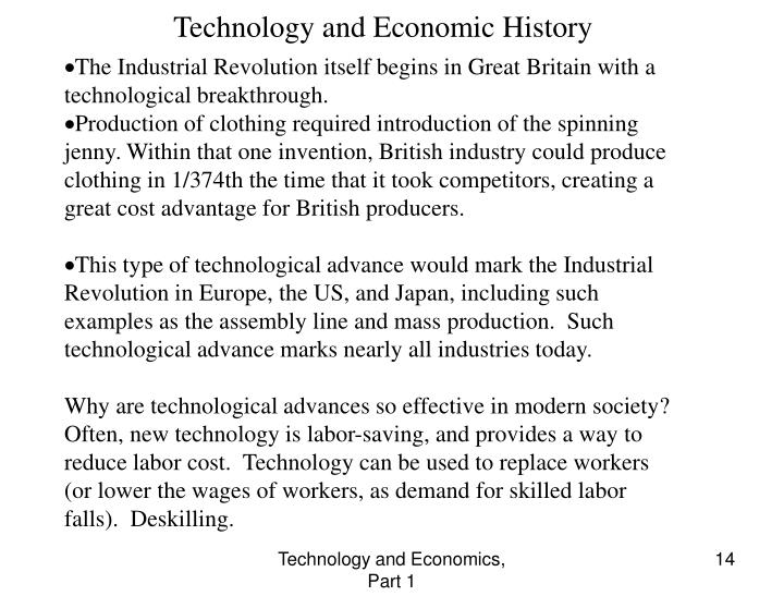Technology and Economic History