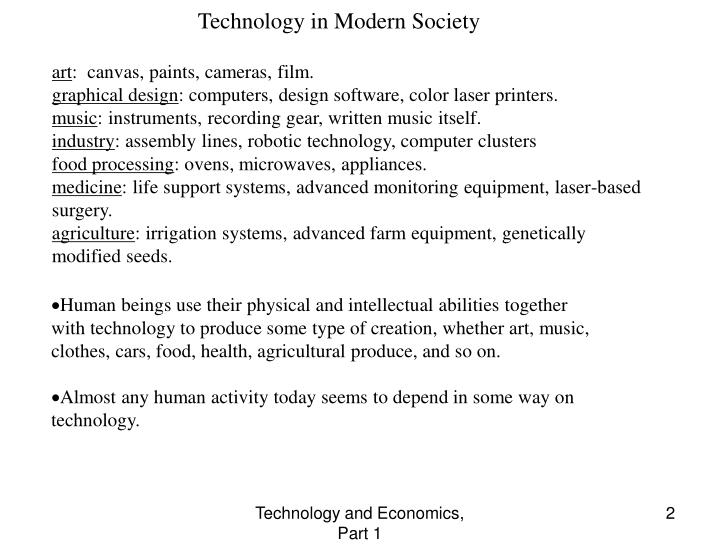 Technology in Modern Society