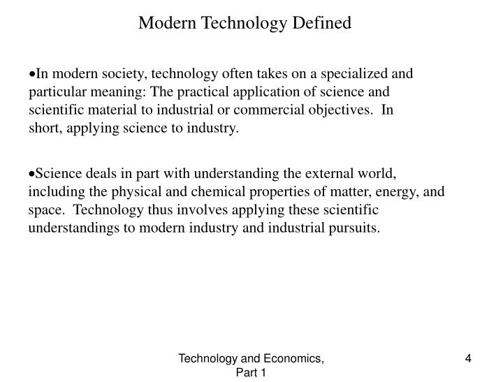 Modern Technology Defined