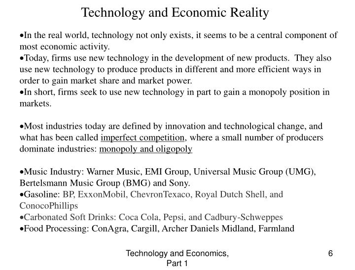 Technology and Economic Reality
