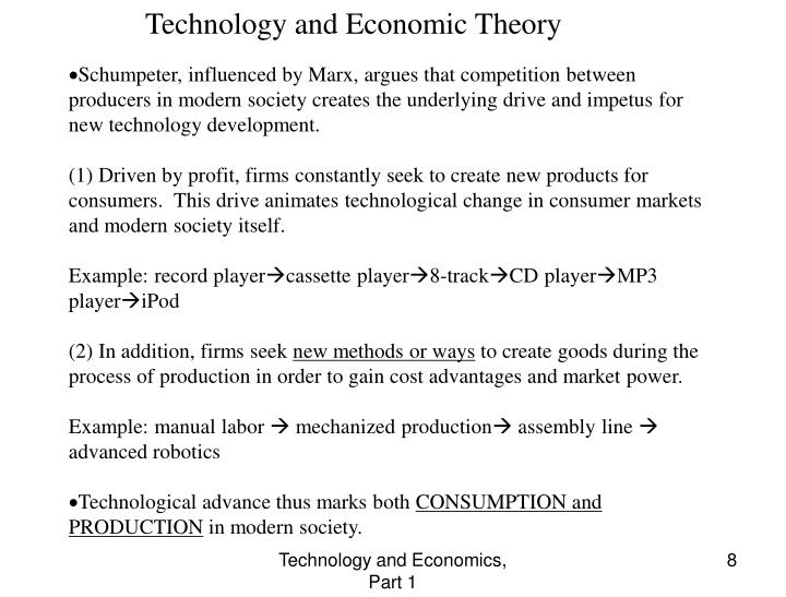 Technology and Economic Theory