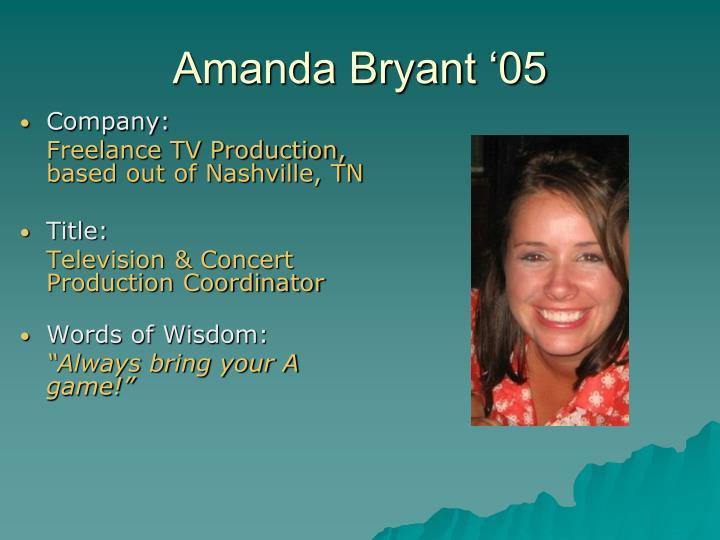 Amanda Bryant '05