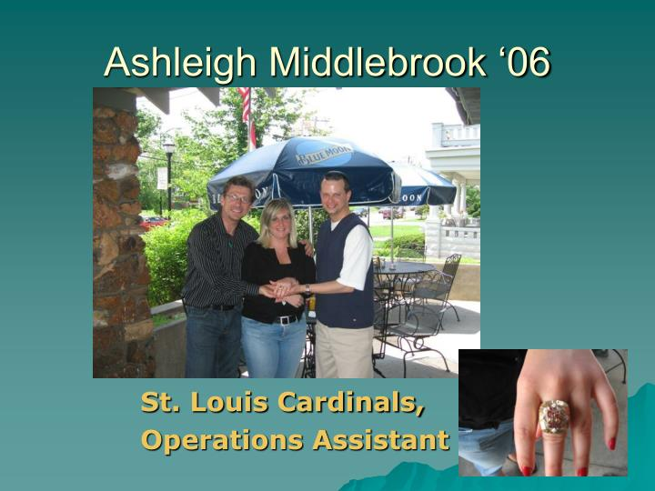 Ashleigh Middlebrook '06