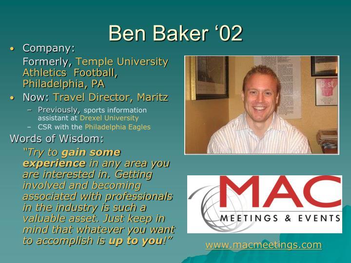 Ben Baker '02