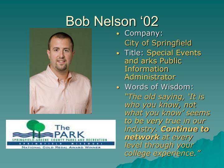 Bob Nelson '02