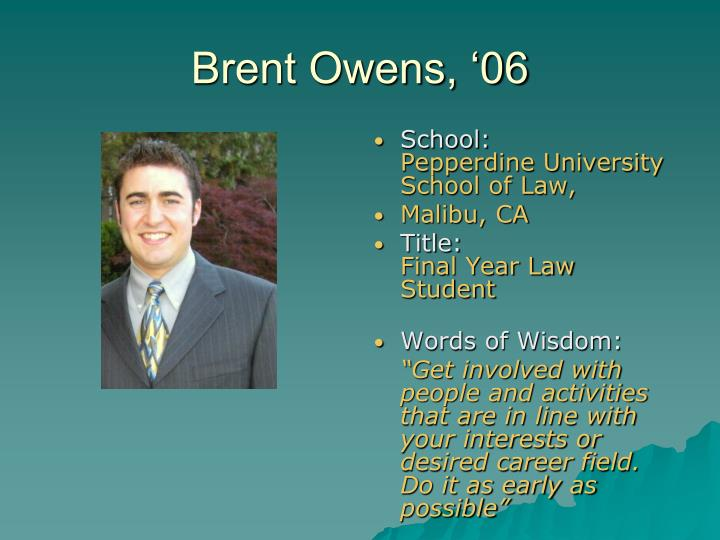 Brent Owens, '06