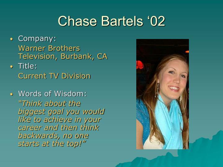 Chase Bartels '02