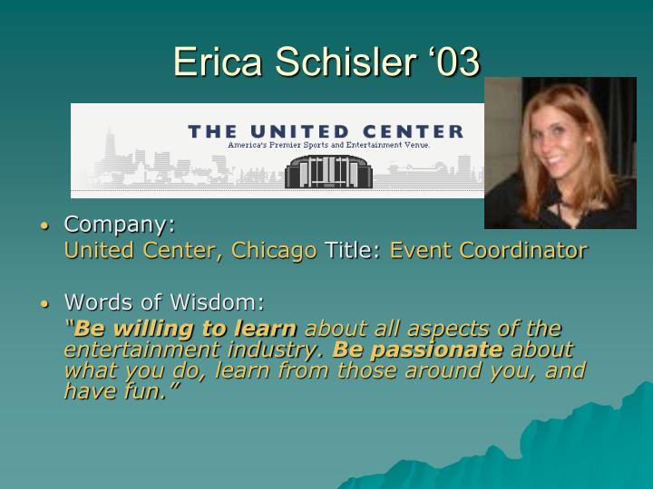 Erica Schisler '03