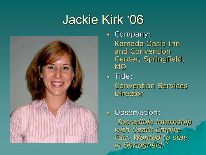 Jackie Kirk '06