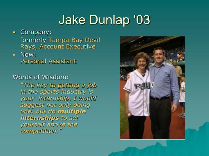 Jake Dunlap '03
