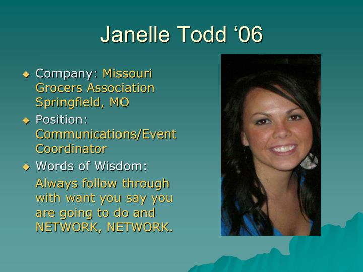 Janelle Todd '06