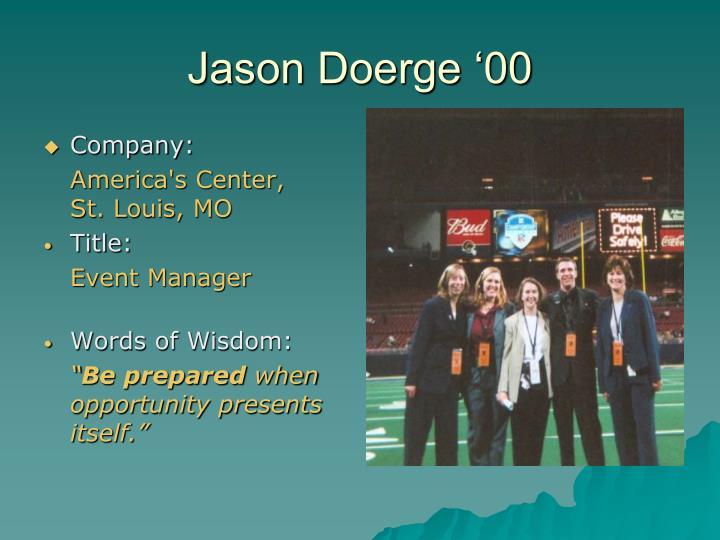 Jason Doerge '00