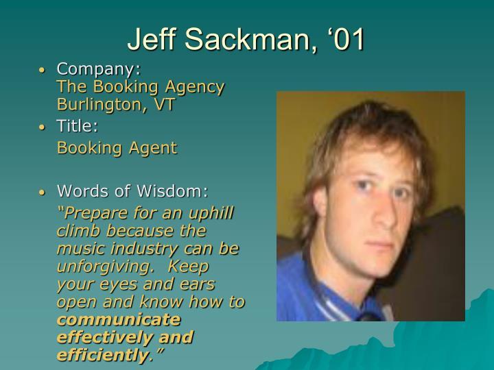 Jeff Sackman, '01