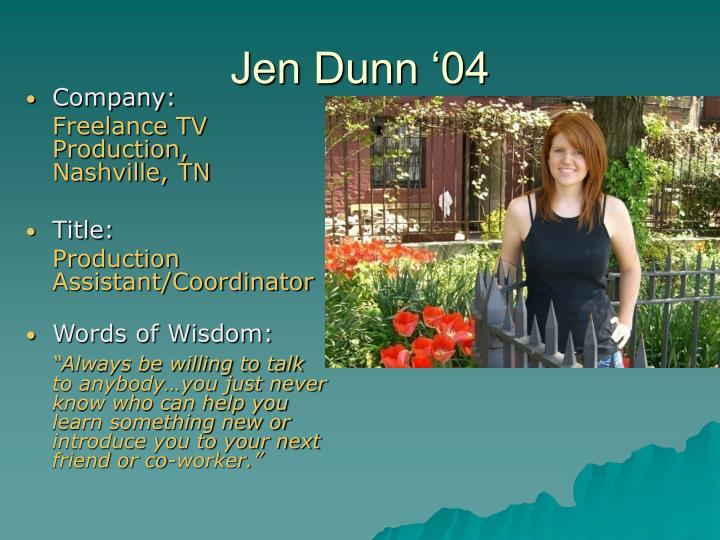 Jen Dunn '04