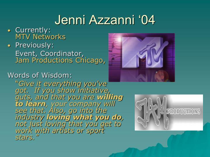 Jenni Azzanni '04