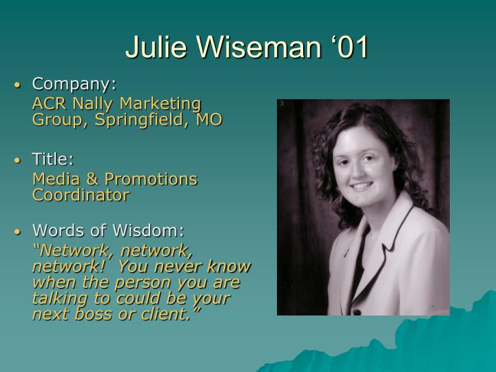 Julie Wiseman '01