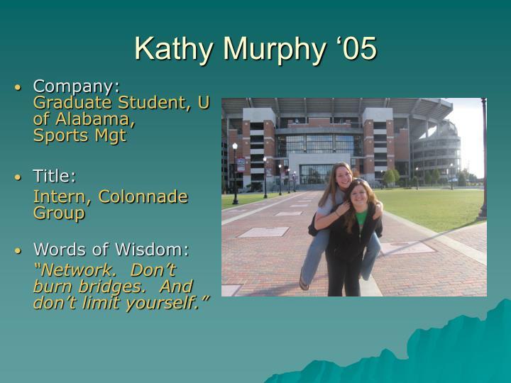 Kathy Murphy '05
