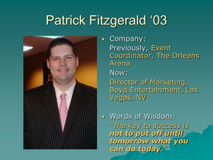Patrick Fitzgerald '03