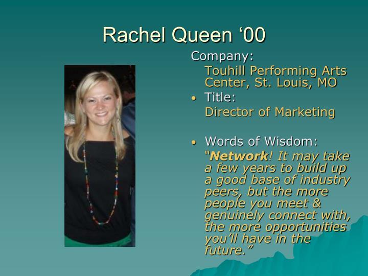 Rachel Queen '00