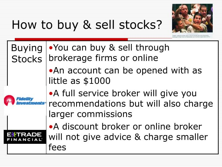 How to buy & sell stocks?