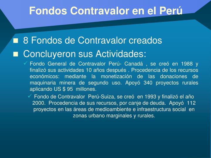 Fondos Contravalor en el Perú