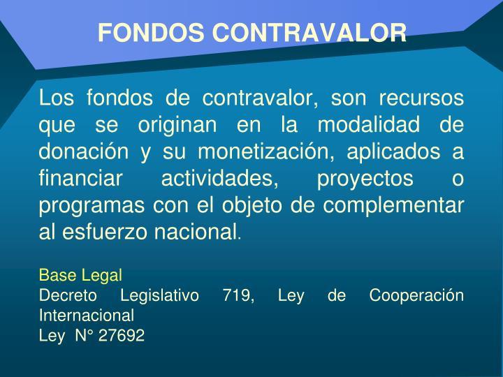 FONDOS CONTRAVALOR