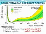 conservative cut and count analysis