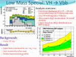 low mass special vh vbb