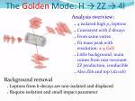 the golden mode h zz 4l