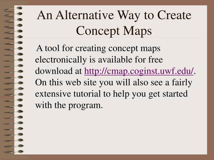 An Alternative Way to Create Concept Maps
