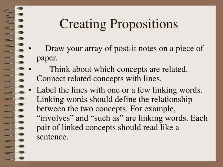 Creating Propositions