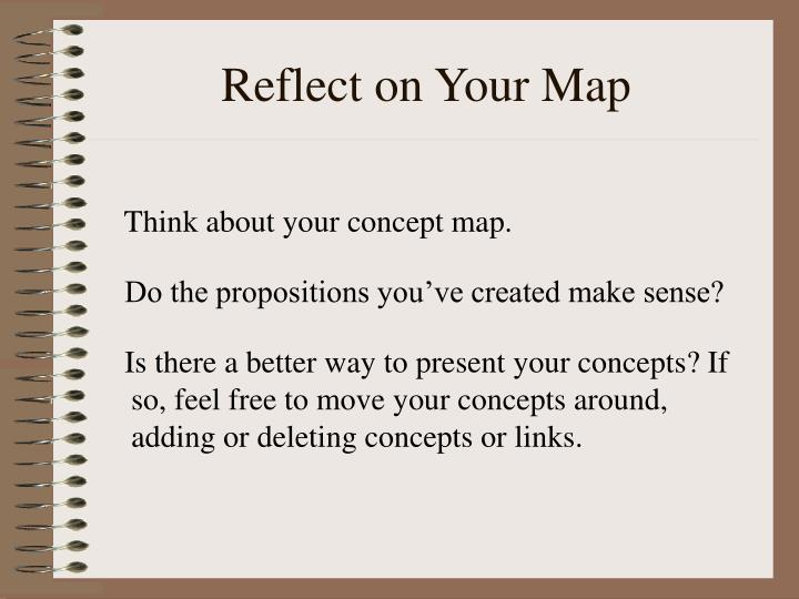 Reflect on Your Map