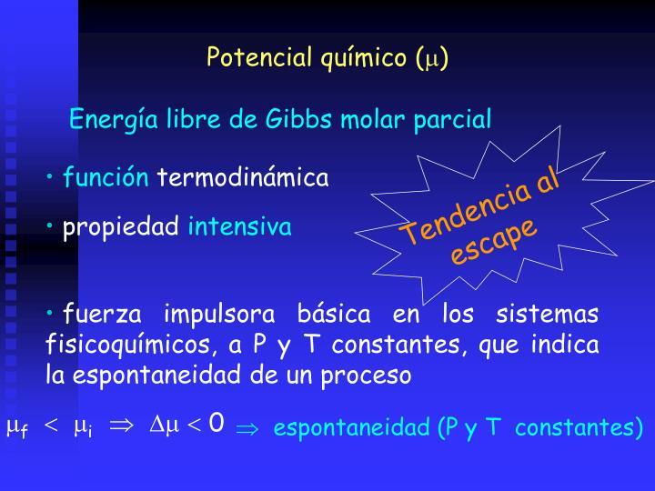 Potencial químico (