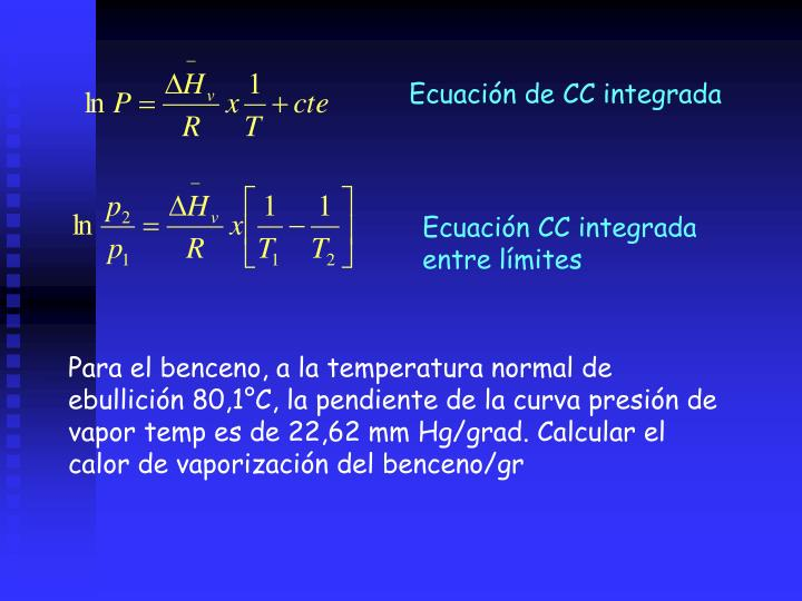 Ecuación de CC integrada