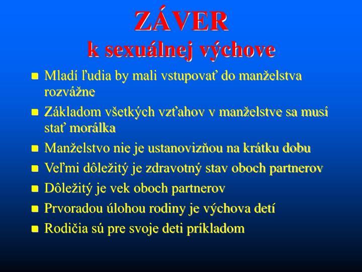 ZÁVER