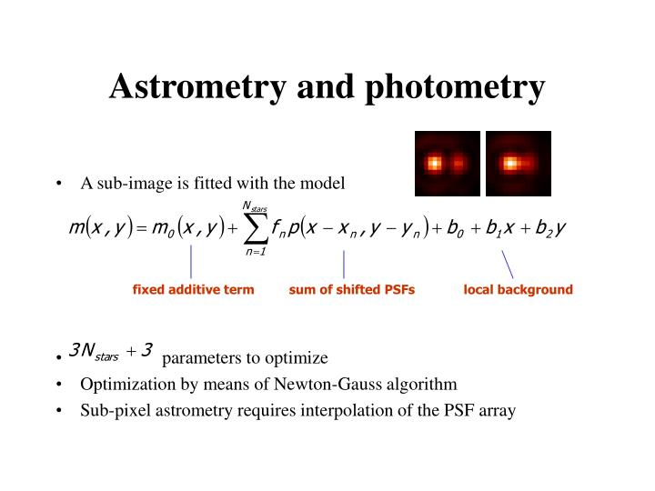 Astrometry and photometry