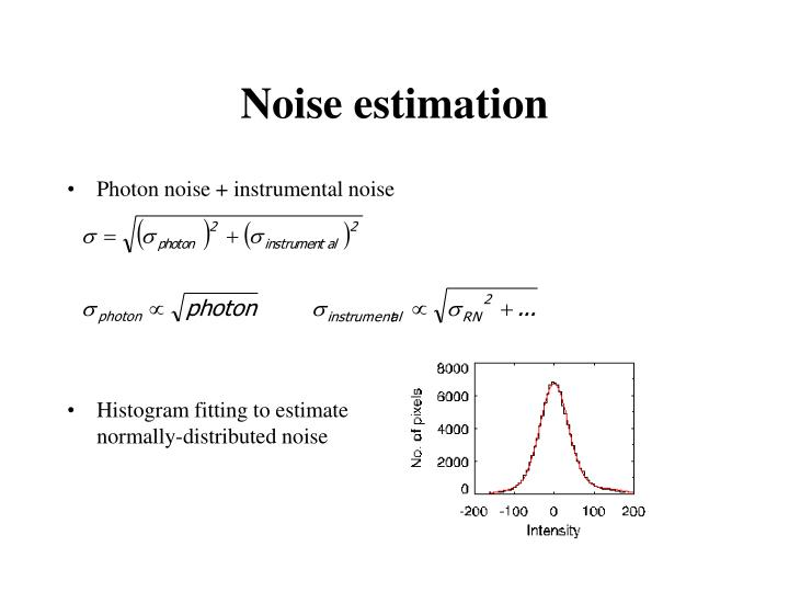 Noise estimation