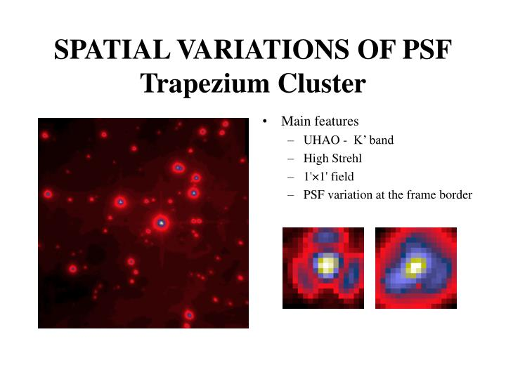 SPATIAL VARIATIONS OF PSF