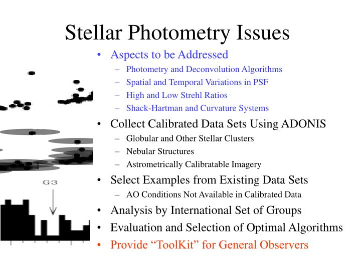 Stellar Photometry Issues