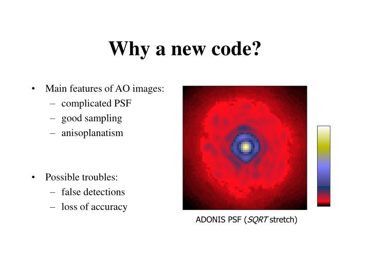 Why a new code?