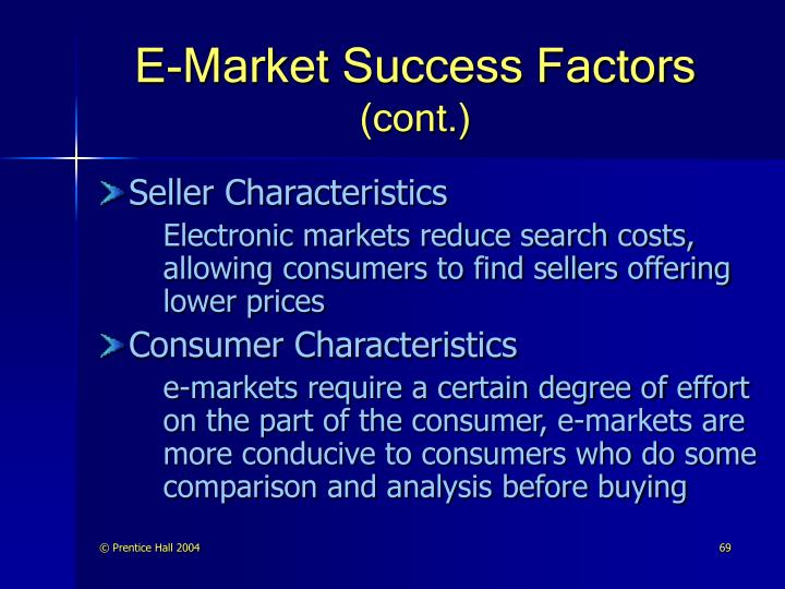 E-Market Success Factors