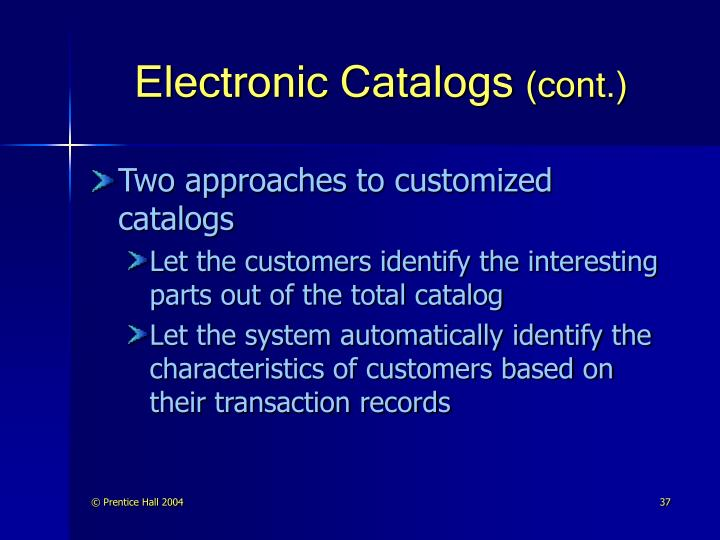Electronic Catalogs